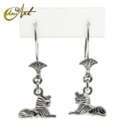 Sphinx - silver earrings