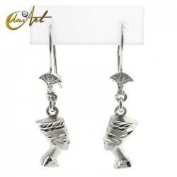 Earrings Nefertiti in silver