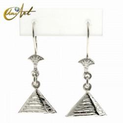 pyramid earrings - sterling silver