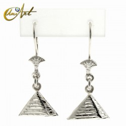 pyramid earrings - sterling silver