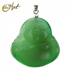 Happy Buddha agate  pendant