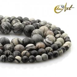 Silk stone round beads
