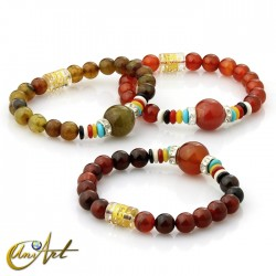 Agate bracelet with mantra, small