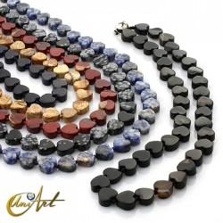 Heart necklace in semiprecious stones