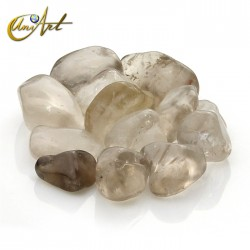 Smoky Quartz tumbled stones in packet of 200 grs