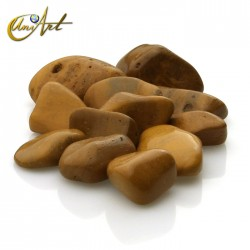 Yellow jasper tumbled stones in packet of 200 grs