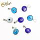 10 mm Turkish Eye in siver and lampwork