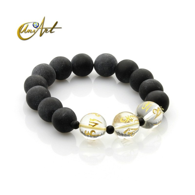 Tibetan bian stone bracelet - model 1