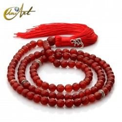 Tibetan Buddhist Mala Beads of Carnelian
