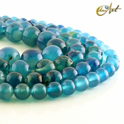 Blue agate, strings of beads