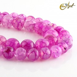 Pink dragon agate beads