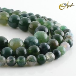 Mossy agate - beads