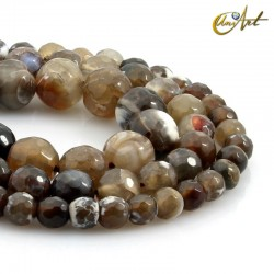 Brown agate - faceted balls