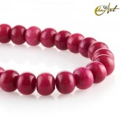 Jade rondelle Magente beads