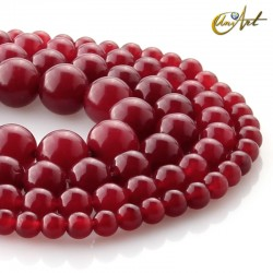 Ruby Jade Beads
