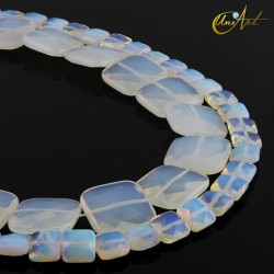 Opalite faceted squares