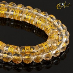 Om mani padme hum glass beads