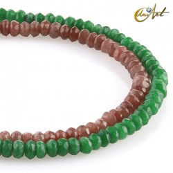 Jade faceted rondelle beads