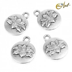Lotus flower pendant - 10 pcs