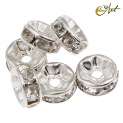 Separator fittings with zircons, 15 pcs