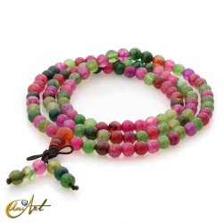 Tibetan Mala watermelon dragon agate beads - 6 mm