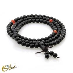 Tibetan Mala black agate beads - 6 mm