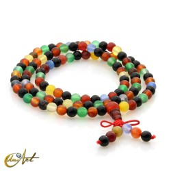 Tibetan Mala colorful agate beads - 6 mm