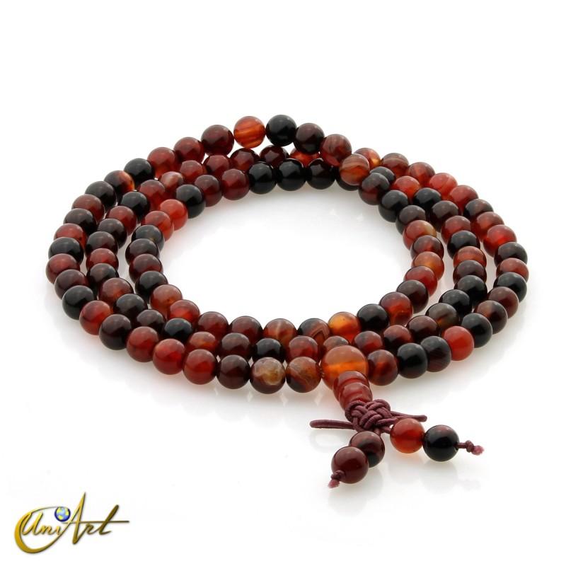 Tibetan Mala miracle agate beads - 6 mm