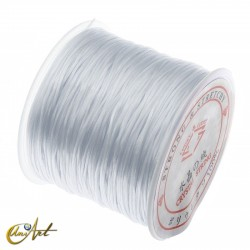 Elastic rubber to thread jewelry