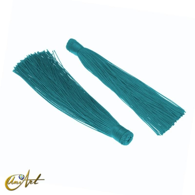 Borla de colores - azul turquesa
