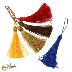 Colorful tassels with lace