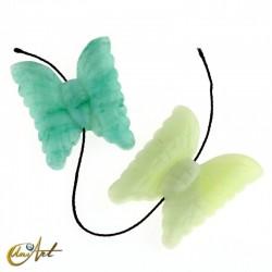Mariposa en jade o aventurina para enfilar