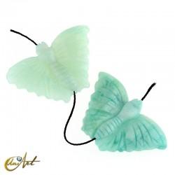 Cuenta de aventurina verde - mariposa