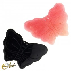 Butterfly, jade or onyx bead