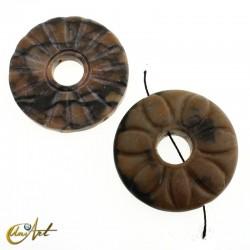 Jasper donut bead