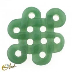 Abalorio modelo nudo grande de aventurina verde