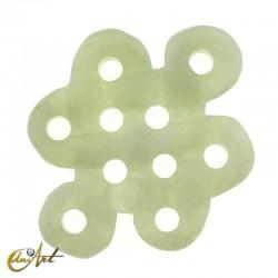 Abalorio modelo nudo grande de jade verde