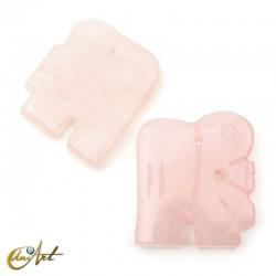 Base elefante de cuarzo rosa