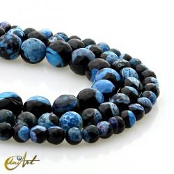 Ágata bicolor negra y azul - cuentas facetadas