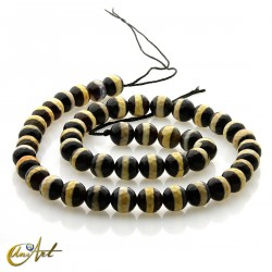 Agate Dzi - 8 mm faceted beads
