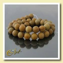 10 mm round beads of Wood Jasper.