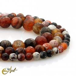 Faceted balls of agate ember
