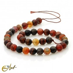 Faceted balls of agate ember - 10 mm