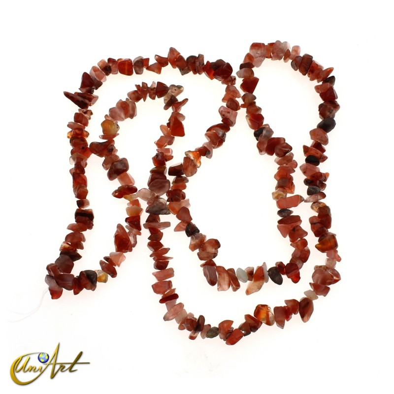 Carnelian chip strands