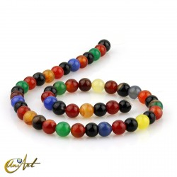 8 mm Round beads of colorful agate