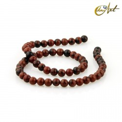 Strands of Obsidian Mahogany, 6 mm round beads