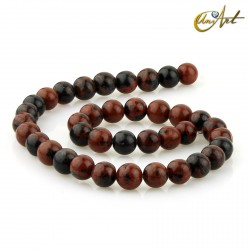 Strands of Obsidian Mahogany, 10 mm round beads