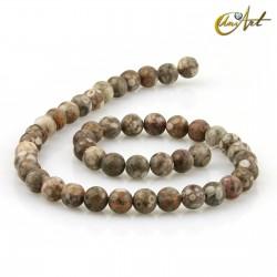 Maifan Stone Strands, 8 mm round beads