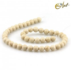 Cream Jasper Strands, 8 mm round beads