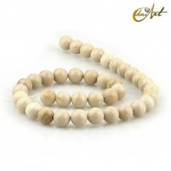 Cream Jasper Strands, 10 mm round beads